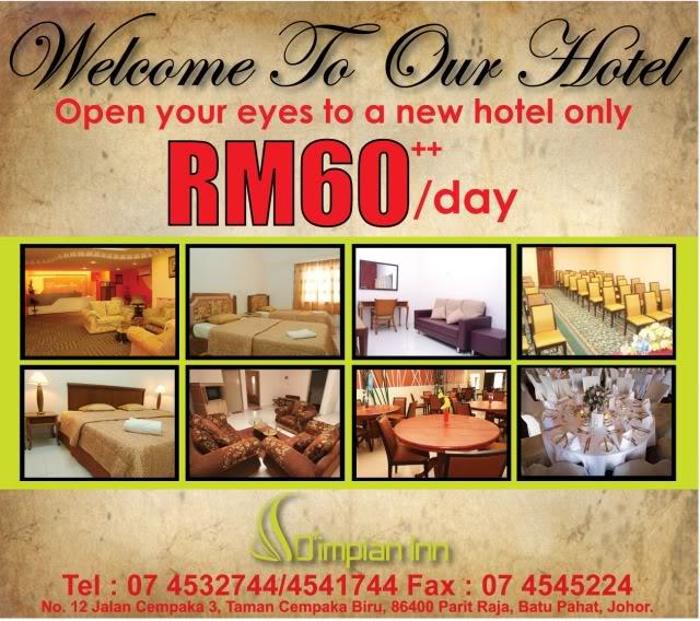 STANDARD ROOM SINGLE RM 6000